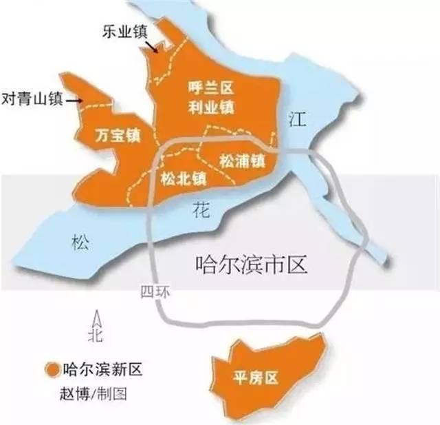 呼兰铁东新区规划图