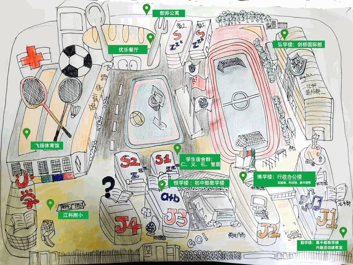 江科附中校园平面图
