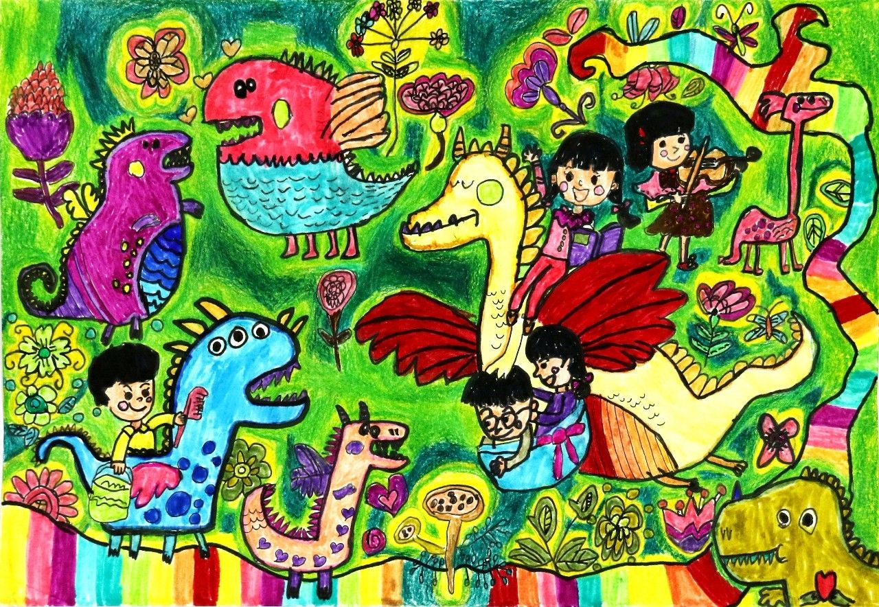 儿童画丨关于绘画我们是认真的,你呢