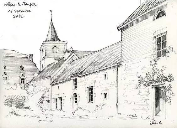 michel· 有钢笔画,铅笔画,水彩画,彩铅画 主要以欧式建筑写生为主图片