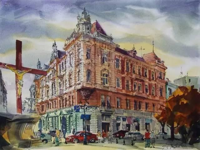 michel· 有钢笔画,铅笔画,水彩画,彩铅画 主要以欧式建筑写生为主 包