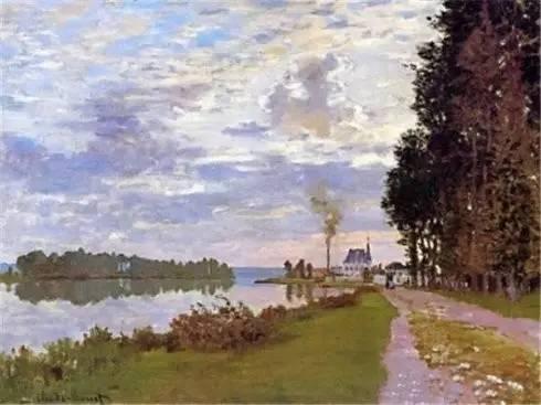 the promenade at argenteuil 02, 1872法国画家克劳德.