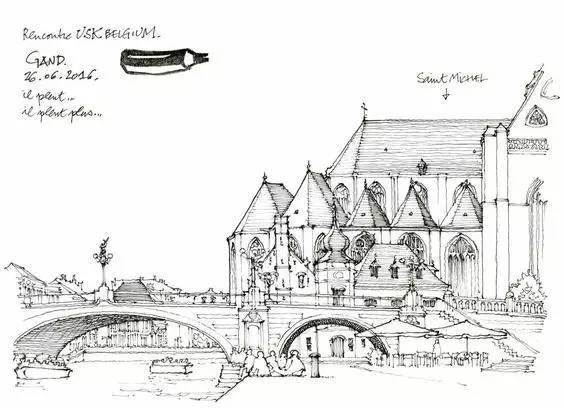 michel· 有钢笔画,铅笔画,水彩画,彩铅画 主要以欧式建筑写生为主
