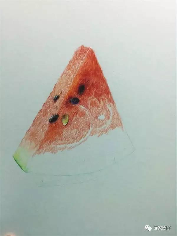 彩铅画西瓜小教程~图解