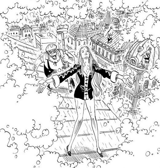 原cp9成员在海贼王漫画的扉页里,洗得异常的白