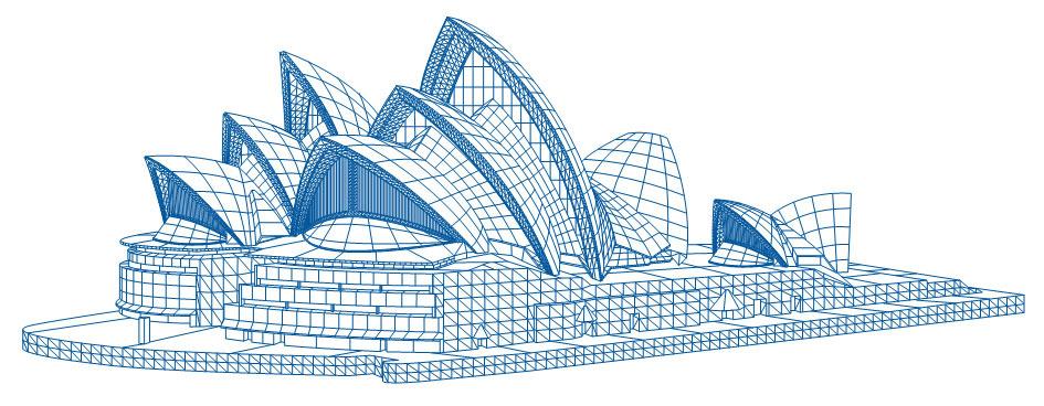 悉尼歌剧院简笔画涂色