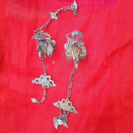 古代银簪子简笔画-术网 清代银饰发簪