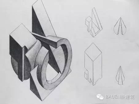 据以上圆锥体,长方体,三菱柱,圆柱搭建一个10X10立体造型.   1 图片