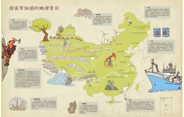 即将截团 中国文化启蒙《手绘中国历史地理地图》,带领孩子领略伟大