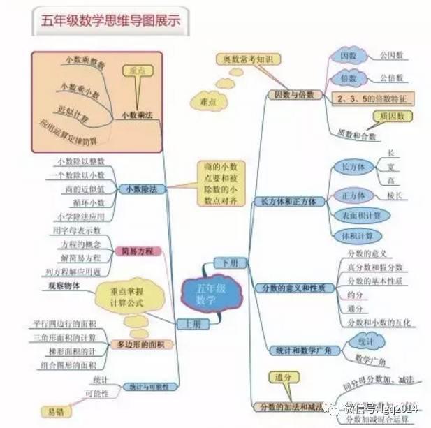 小学和初中数学思维导图