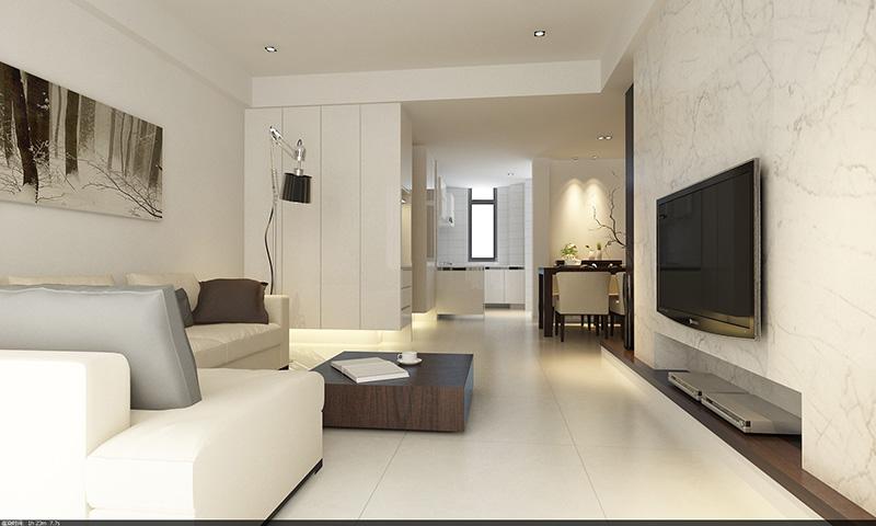 迎宾路三号131平方现代简约3室2厅——客厅装修效果图