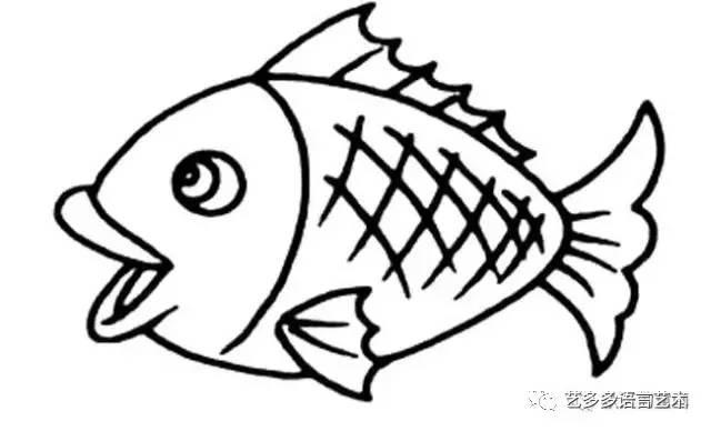 鲤鱼简笔画