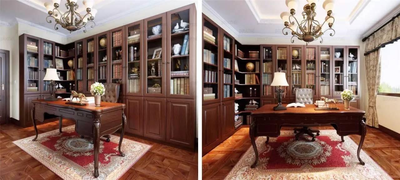 白色家具全隐藏式收纳,让整个空间更显整洁大气,搭配浅色的欧式墙纸