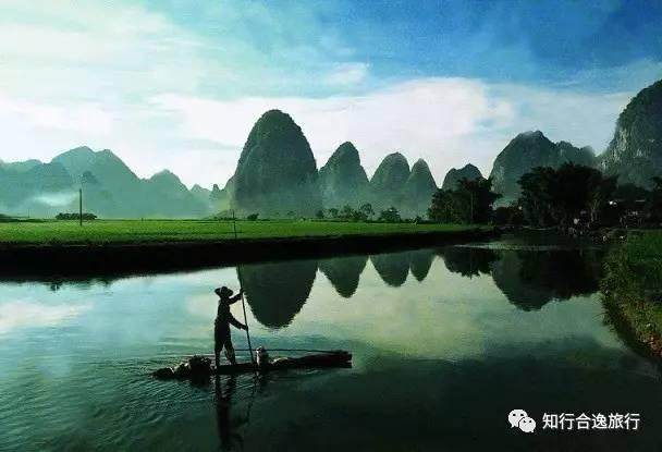 """桂林的山真险啊,危峰兀立,怪石嶙峋,好像一不小心就会栽倒下来.""""图片"""