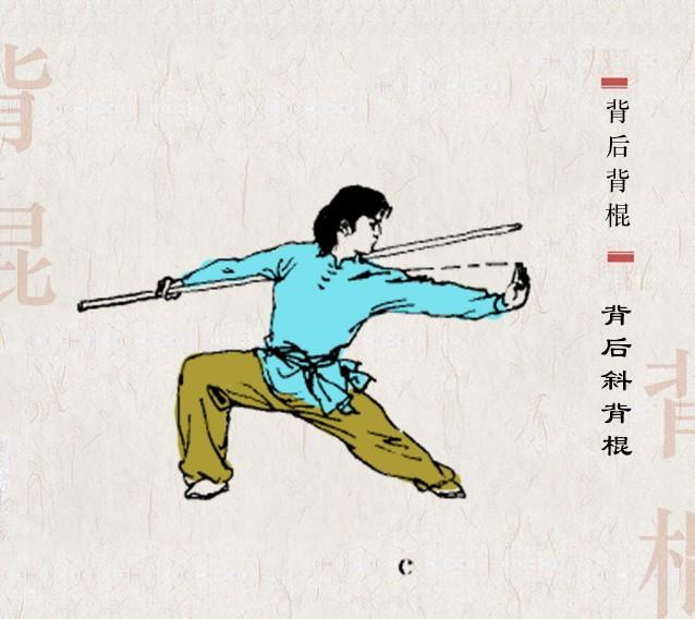 【西棍鉴赏】棍打千翻不见手:实用鞭杆技法及套路(附棍法图解)