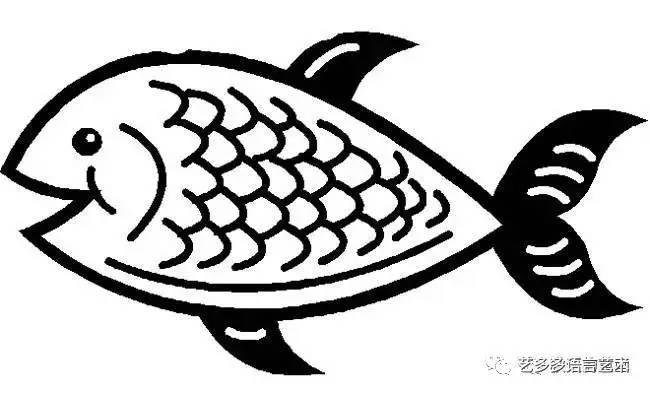 鲤鱼简笔画图片