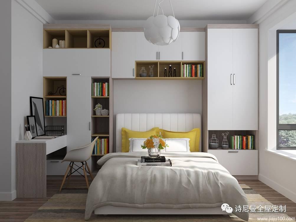 把阳台利用起来做书桌书柜,还可以盛放洗衣机,1平米都不浪费!