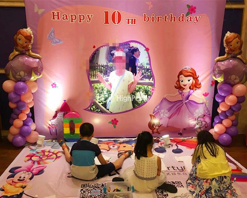苏菲亚的淡紫色童话城堡,小公主10岁生日PARTY