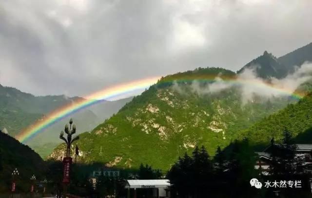 九寨溝兩輪美麗的雙彩虹 網友:風雨之后必是彩虹