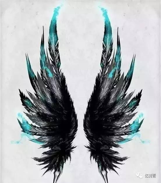 翅膀纹身 自由的象征