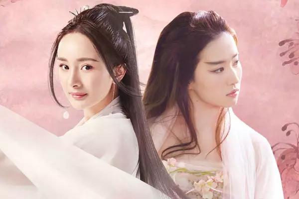 二人的妆容虽然都是桃花妆,两版白浅都超美,从服装到发型,均高质量图片