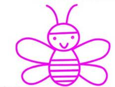 每日一画 | 4步学会画《蜜蜂》,向动物界劳模学习!图片