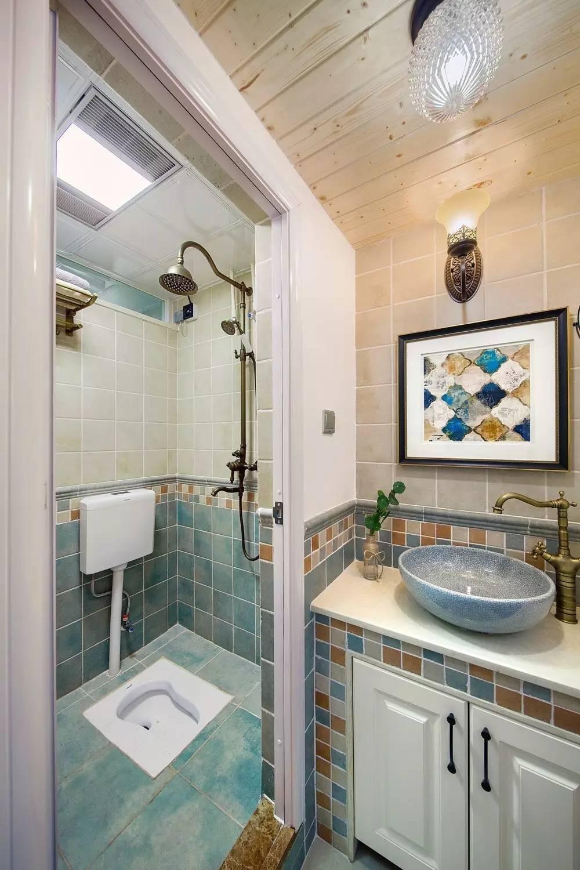 【案例】77㎡现代美式,淡雅温馨,超喜欢这个卫生间!