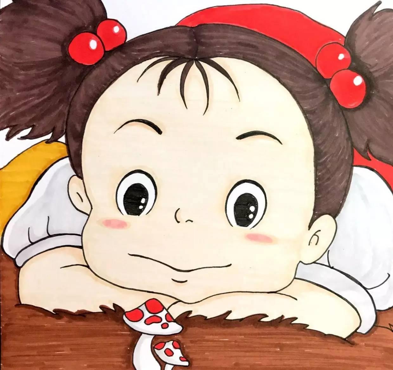 马克笔动漫教程 | 宫崎骏王国——《龙猫》小梅(刀刀手绘)