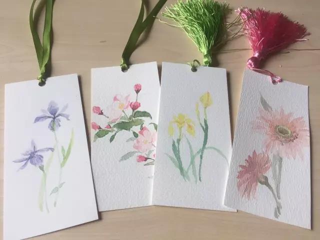 小清新的DIY美术颜料书签