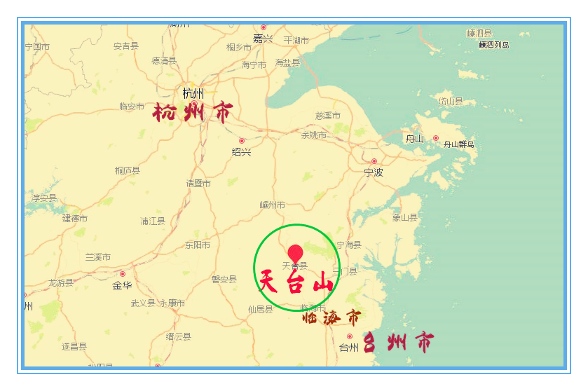 天台县城并不大,四面环山,空气清新,生活气息特浓.图片