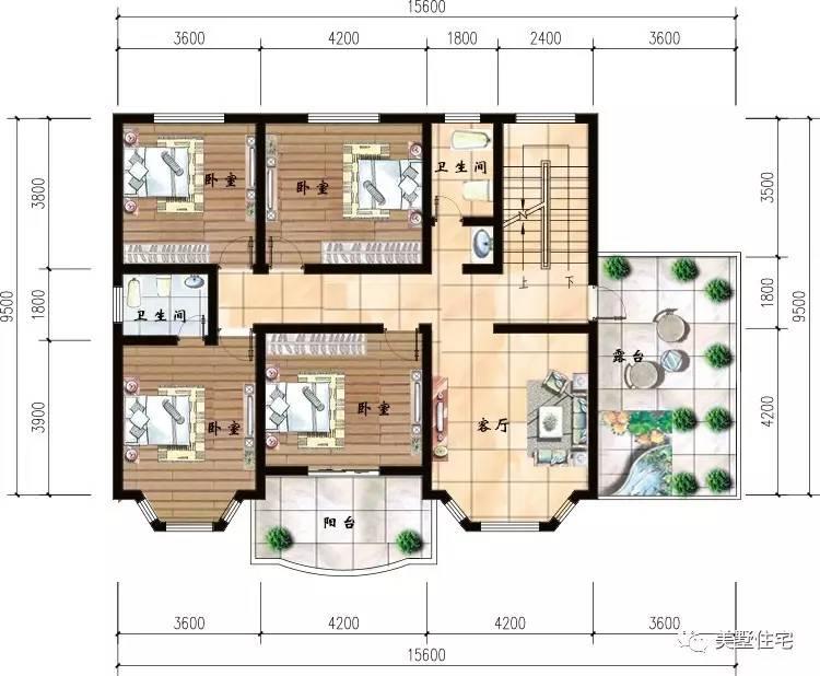 15x9米三层农村别墅,小进深也建成了村里最漂亮的户型