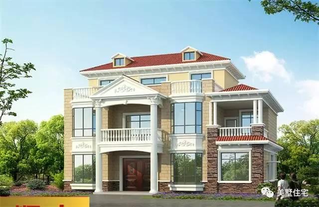 堂屋的三层农村别墅,豪华大气土豪的首选,40万以内也能建