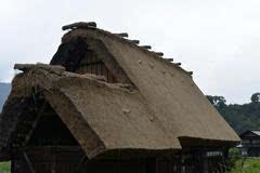 日本:白川合掌村,家家草屋开门见山