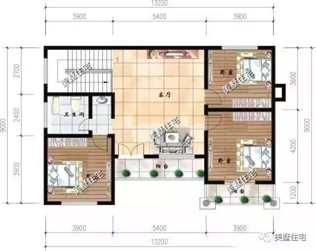 13x8米农村自建房,这套别墅建造村里,将成为最有特色_