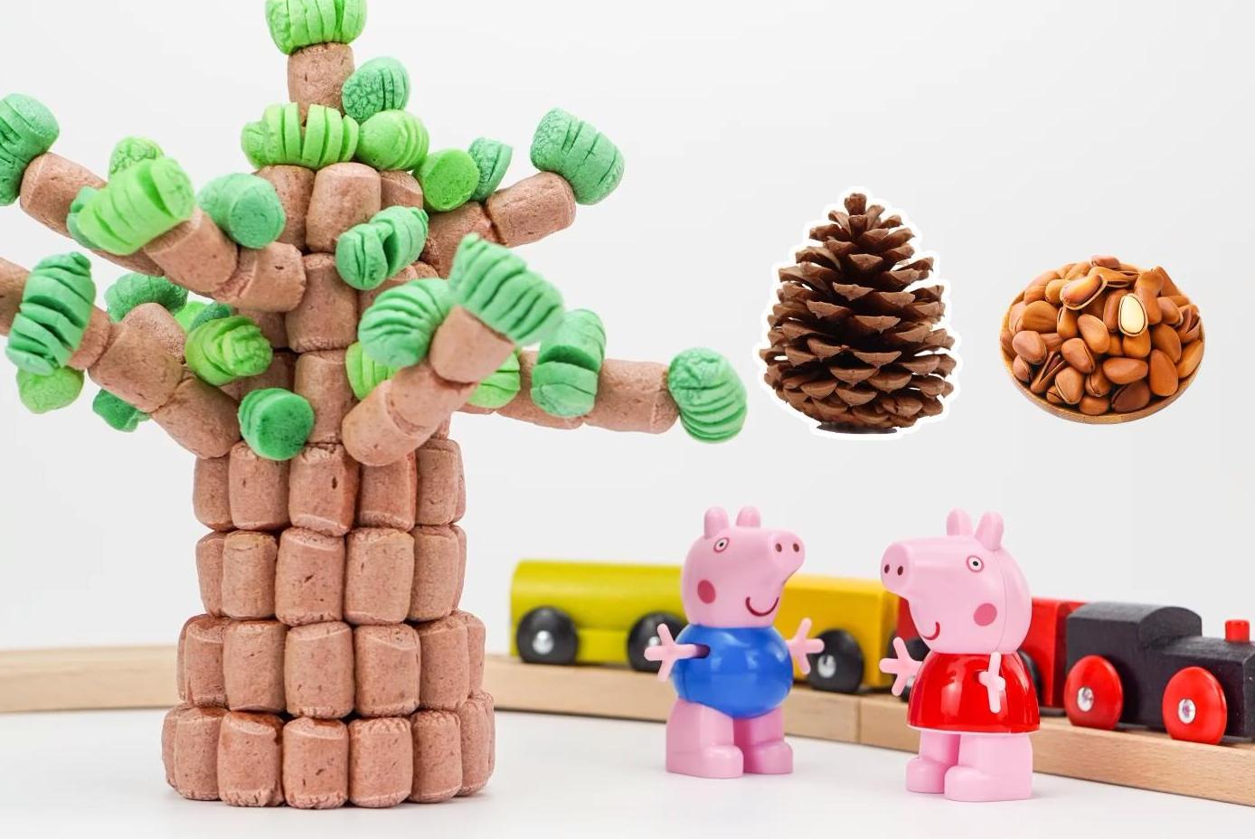 猴猴玩实验室:百变磁力片之松鼠 亲子游戏 儿童玩具 手工diy 早教益智