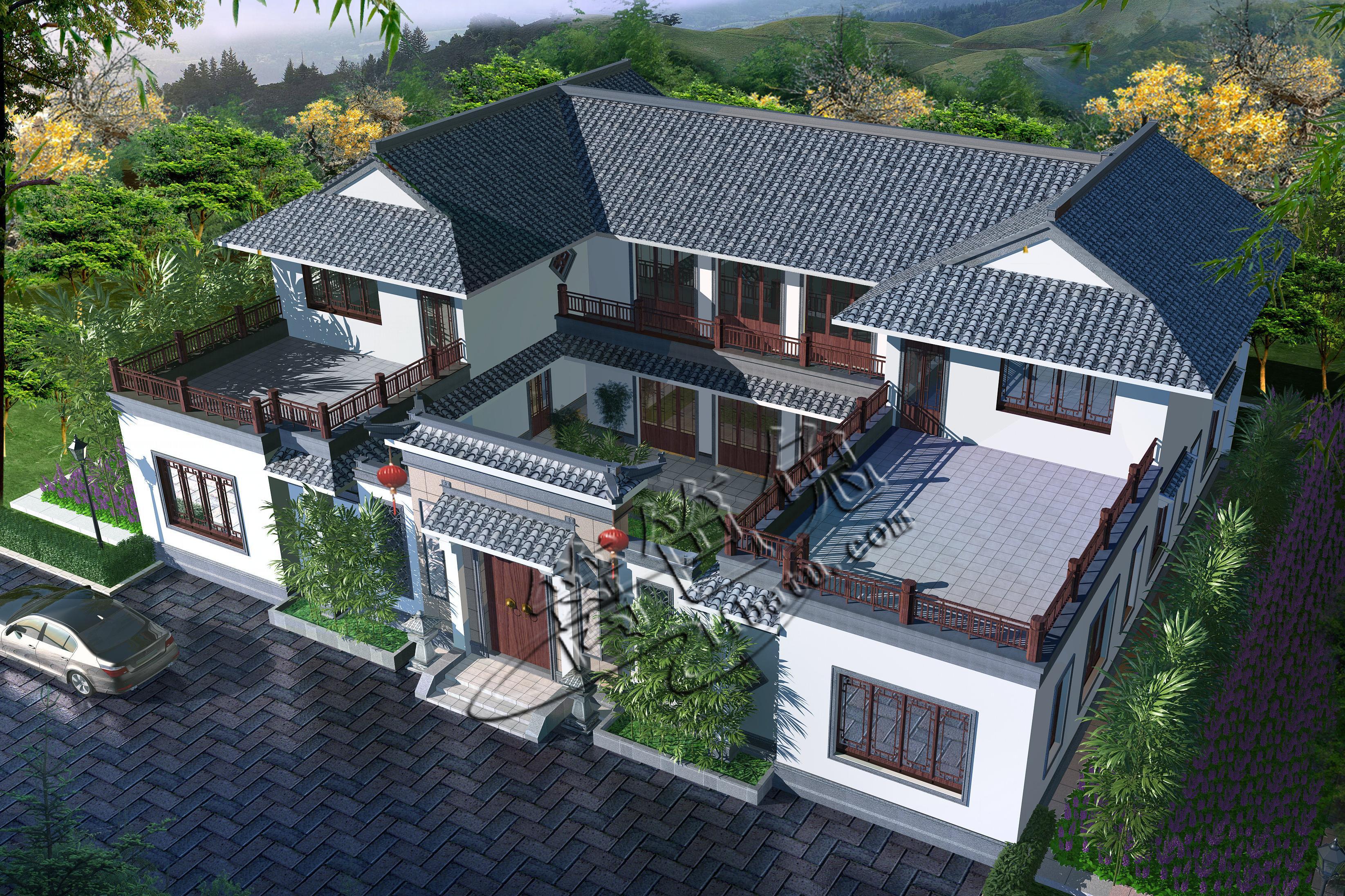 集自住,开农家乐,模型案例于一体的四合院别墅v模型酒店!艾瓦民宿别墅图片