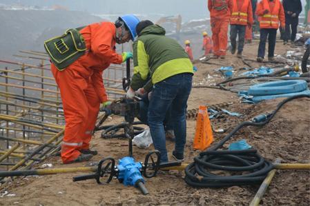 服务雄安新区地铁 尹恒zqsj-140气动手持式钻机为建设新雄安尽一份图片