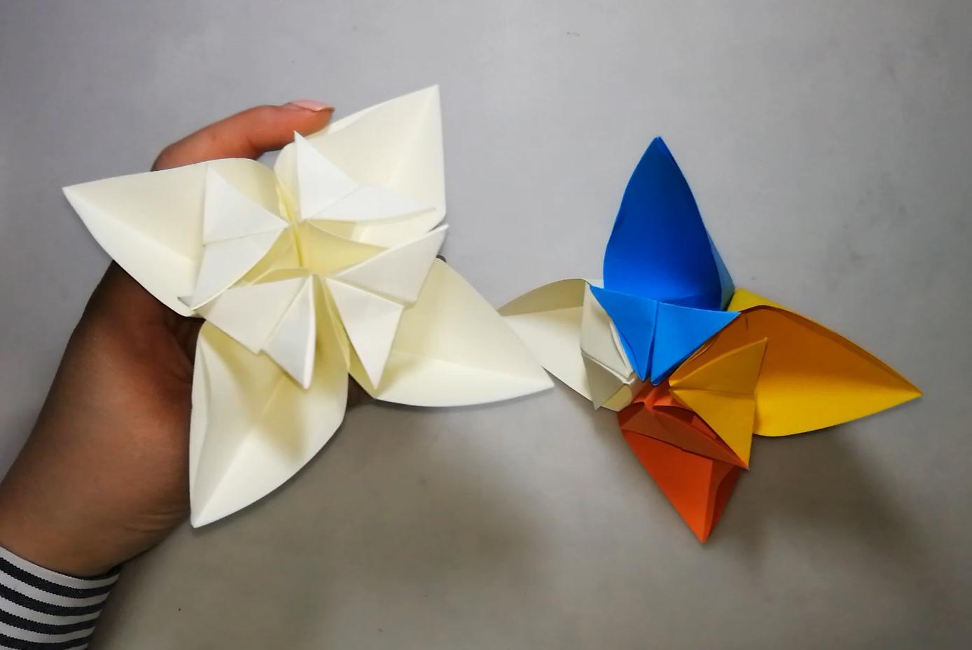 手工折纸白莲花视频教程,放在桌子上很漂亮,小朋友看了就喜欢