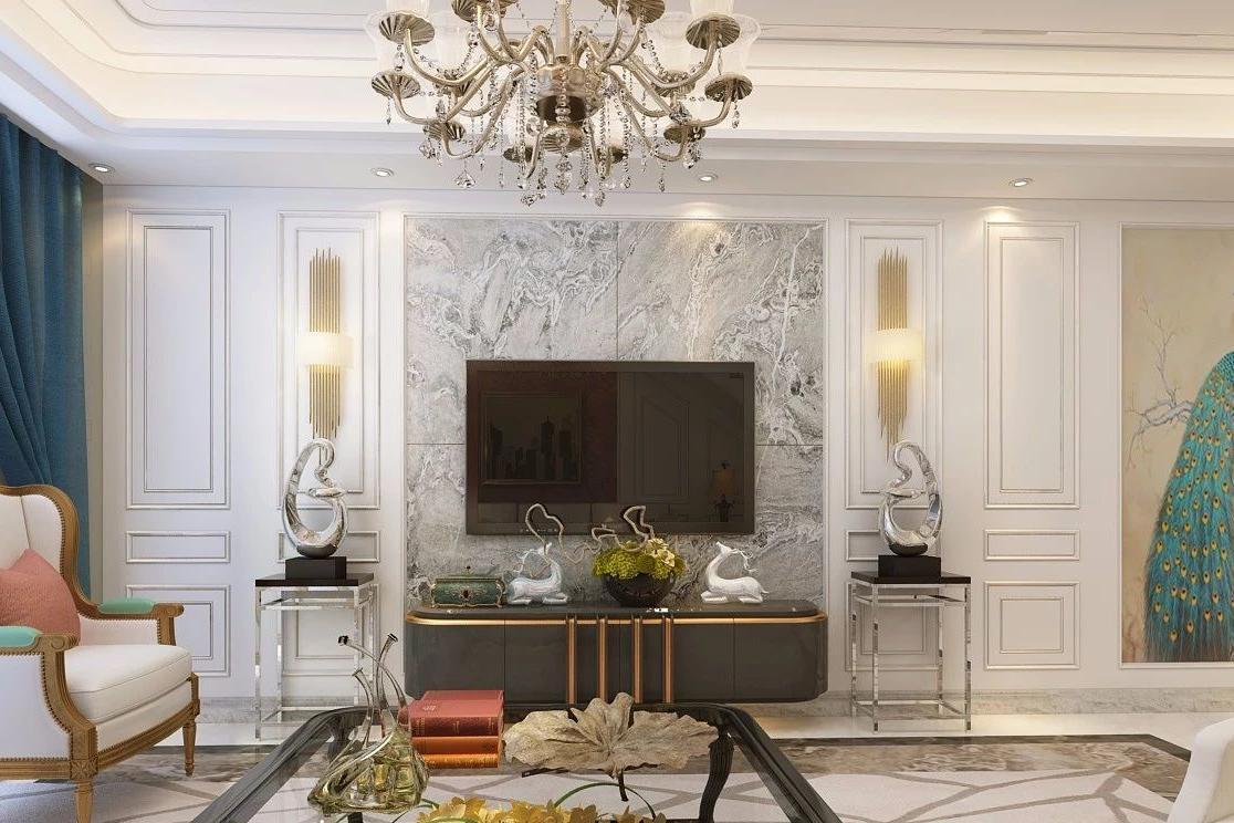 立豪天鹅堡全屋定制   复式欧式风格装修,护墙板让空间更加富有质感.