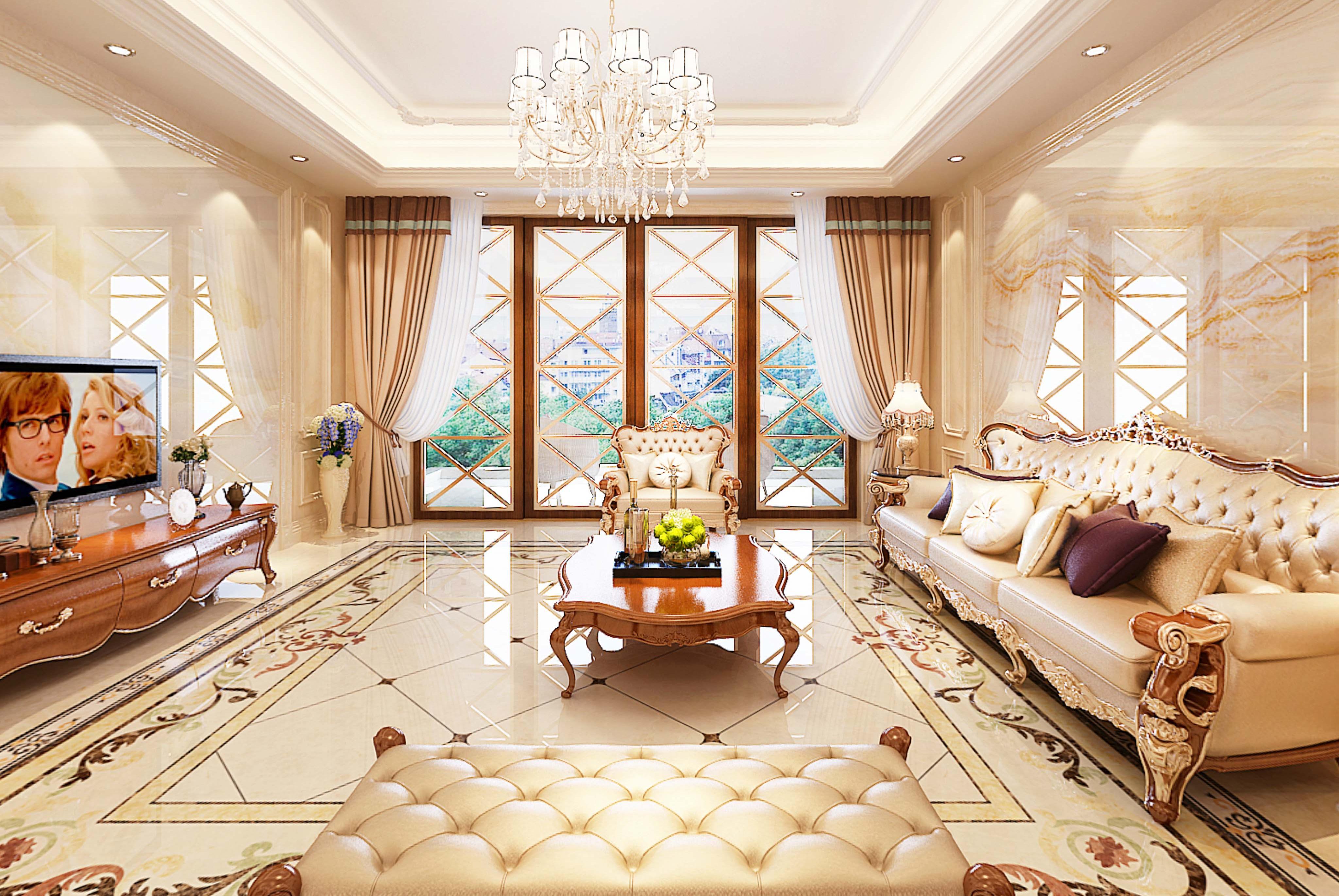 沿袭古典欧式的典雅与轻奢,又融合了现代生活的休闲和舒适