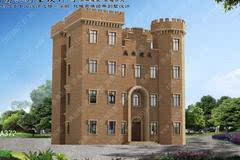 城堡式别墅新农村自建房设计图首层151平方米