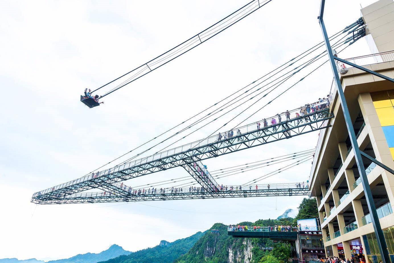 重庆网红景点奥陶纪,天空之城里的游乐场(比张家界玻璃栈桥恐怖多了)