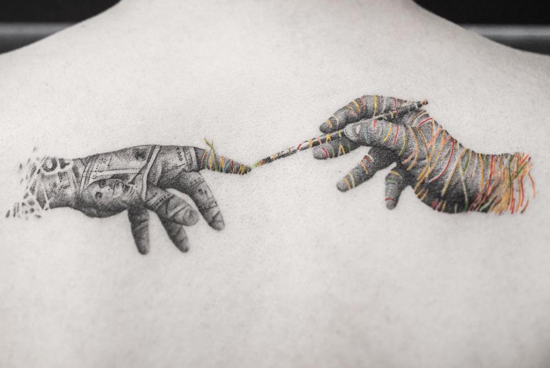 霸气动物纹身小图案