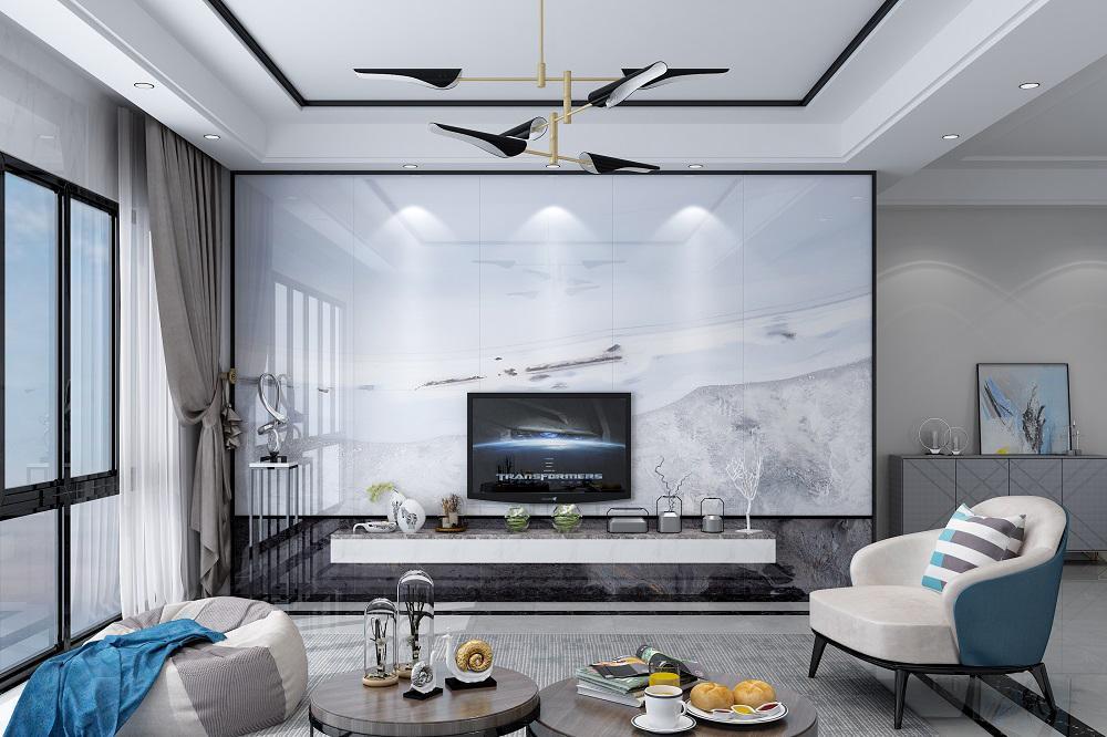 2018客厅背景装修设计,一直很流行的现代简约风