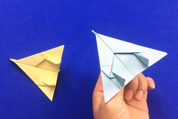 飞出去还能飞回来的折纸滑翔机,幼儿园小朋友最喜欢玩的纸飞机!图片