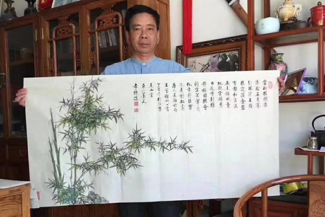 画竹子的画家最有名的 李传波画竹,举世无双!图片