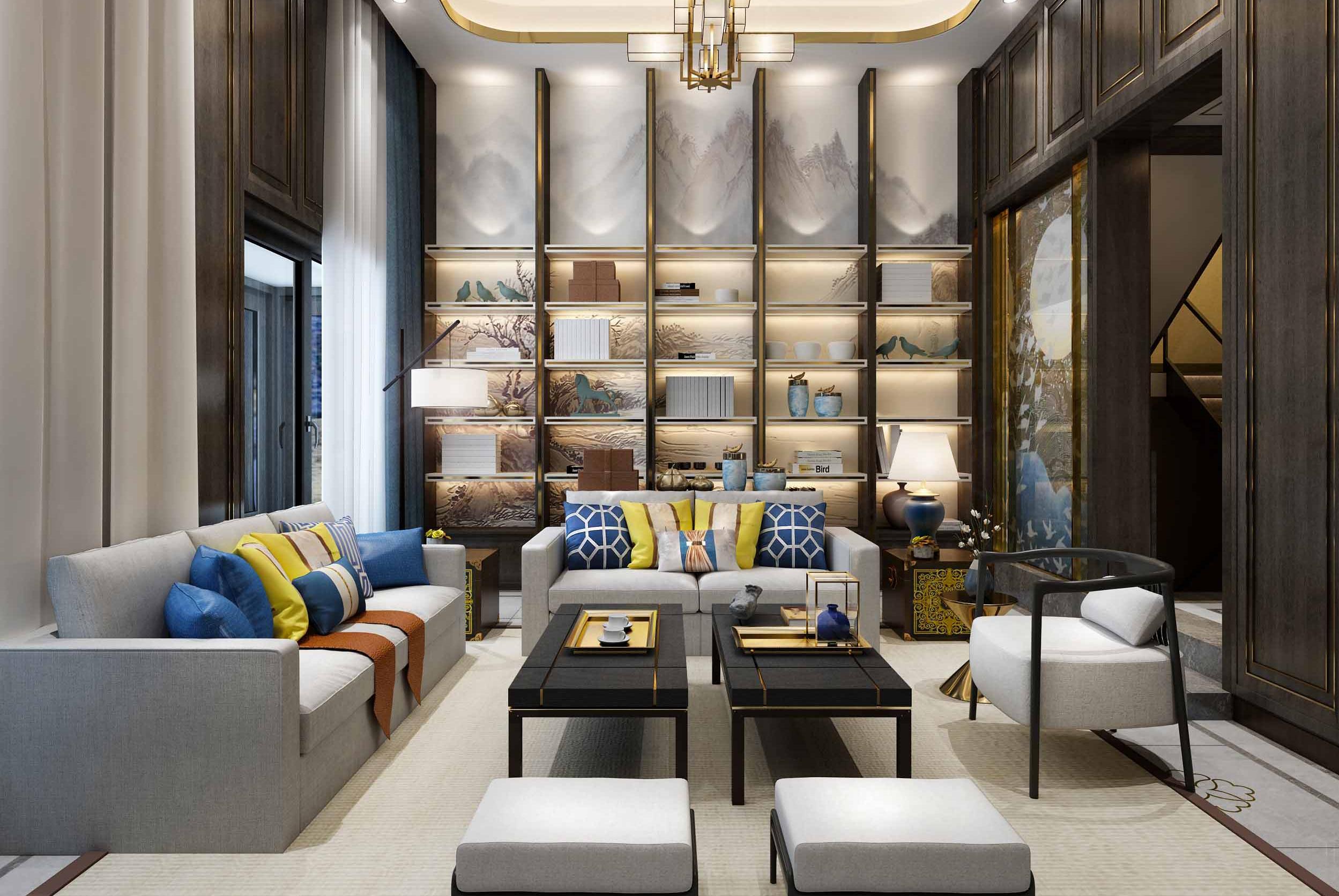 新中式轻奢室内软装设计 我就张扬那么一点点图片
