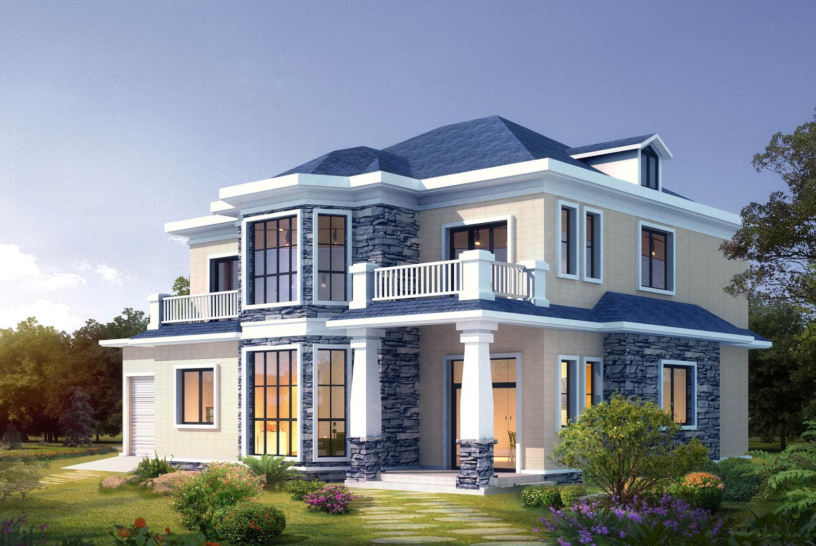 二层半小别墅外型设计图展示