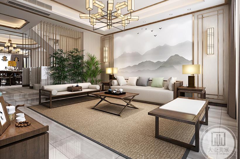 太仓装饰设计公司丨太仓绿地别墅新中式风格装修设计案例
