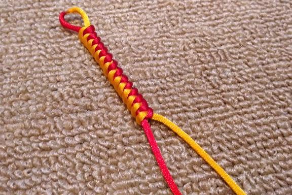 手工编绳,中国结中金刚结的快速编法,戴手上特漂亮